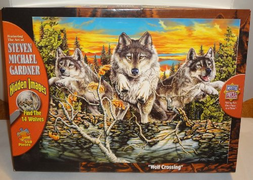 Masterpieces Steven Michael Gardner Wolf Crossing Jigsaw Puzzle - 550 pc