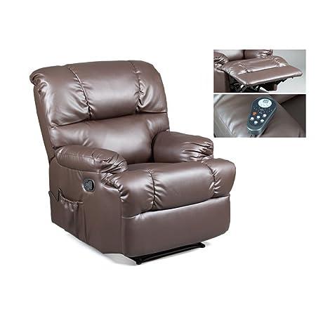 Sillón relax y masaje marrón