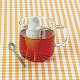 [シリコン製 アニマル 茶こし ゴマフアザラシ 1個入り]  動物 ティーインフューザー ティーストレーナー/ アニマルミュージアムカフェ