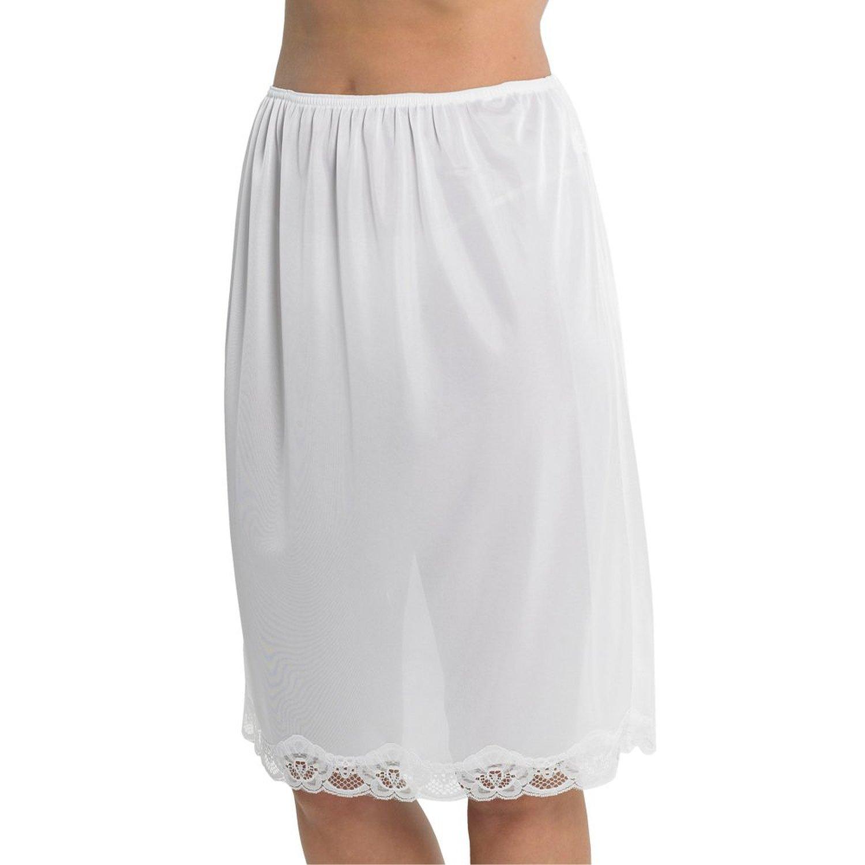 Ladies Cling Resistant Halbschein Taille Rutsch 61 cm lang günstig online kaufen