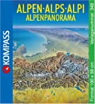 Alpenpanorama 349 Flat Map Kompass