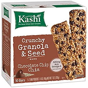 Kashi Crunchy Chia Bar, Chocolate Chip, 5-2 Bar pouches Net WT. 7 oz (200g)