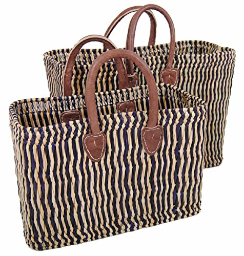 Einkaufskorb-March-Korb-Shopper-Shopping-Basket-Tasche-Lederhenkel-ca-26cm-hoch