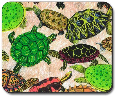Turtles Mouse Pad - By Art Plates