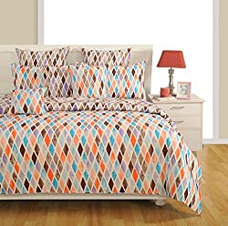 SWAYAM Blue Colour Bed in a Bag Set of 4