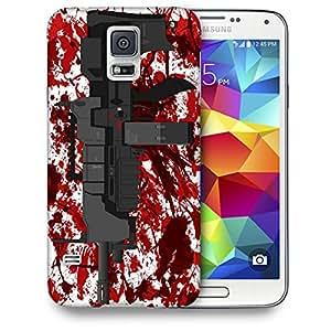 Snoogg Mini Machine Gun White Designer Protective Back Case Cover For SAMSUNG GALAXY S5