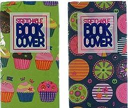 Set of 2 Book Covers: Standard Size - Cupcake Set-Mandala Circles by Licken