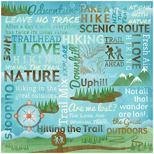 Karen Foster Design Scrapbooking Paper, 25 Sheets, Take A Hike Collage made our list of Gifts For Active Women, Gifts For Women Who Hike, Gifts For Women Who Fish, Gifts For Women Who Camp