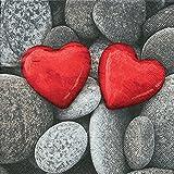 20 Servietten Love stones - Steine der Liebe