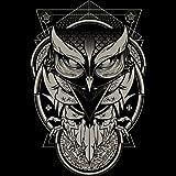 Alchemy Owl Men's 4X-Large Black Graphic T Shirt - Design By Humans
