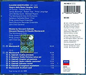 Monteverdi: Vespers [Vespro della Beata Vergine 1610] /Monteverdi Choir & Orchestra · Gardiner by Double Decca
