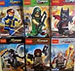 Super Heroes Minifigures Set of 6- Includes Batman, Cyclops, Green Arrow, Winter Soldier, Venom, and Odin. 100% Compatible with Lego Brand.