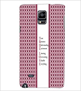 PrintDhaba Quote D-3227 Back Case Cover for SAMSUNG GALAXY NOTE 2 (Multi-Coloured)