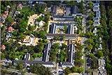 Alu Dibond 90 x 60 cm: The metropolitan gardens Immobilienareal an der Clayallee im ORtsteil Dahlem von Berlin von Robert Grahn / euroluftbild.de