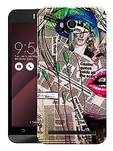 "Humor Gang Newspaper Girl Printed Designer Mobile Back Cover For ""Asus Zenfone Selfie"" (3D, Matte, Premium Quality Snap On Case)"