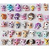 Littlest Pet Shop Collection Cute Cat Dog Animal Figures Lot 12 PCS Ramdon Child Toys