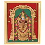 Raji Handicrafts Red & Green Glass Painting -22 Cm X 18 Cm X 3 Cm