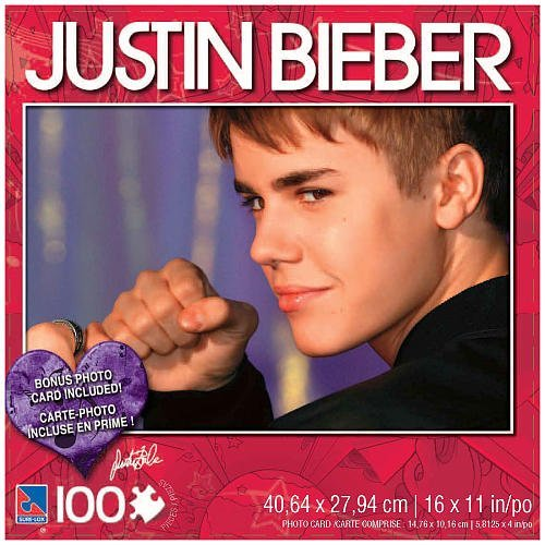 Justin Bieber 100 Piece Jigsaw Puzzle Justin with Fist - 1