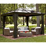 Garden Gazebo Canopy Pergola. This 10 x 14 Hardtop Gazebo Tent Has A Metal Gazebo Frame And Durable Polycarbonate Roof. The Gazebo Canopy Is A Screened Gazebo With Mosquito Netting. The Gazebo Kit Acts As A Backyard Gazebo Pergola Or Pergola Canopy.