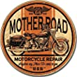 Mother Road Repair Metal Tin Sign 11.75 Dia.