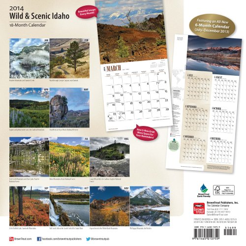 Wild & Scenic Idaho 18-Month 2014 Calendar