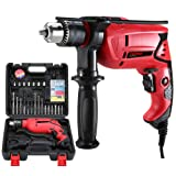 TEENO 6.0-Amp 1/2-Inch Hammer Drill (Color: Red)