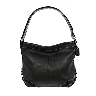 Coach Black Pebbled Leather Duffle Shoulder Bag 15064 22