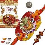 Indiangiftemporium Charming Rajasthani Mauli Rakhi Gift To Brother Rakhi Raksha Bandhan Gift Band Moli Bracelet...
