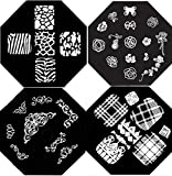 Nail Art Polish Stamp Stamping Manicure Image Plates Set Kit 4 Pcs /VIII/
