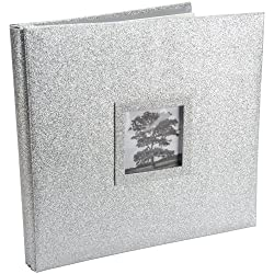 Martha Stewart Crafts 12-by-12-Inch Glitter Album, Silver