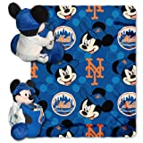 MLB New York Mets Mickey Mouse Pillow with Fleece Throw Blanket Set