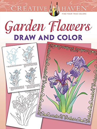 Creative Haven Garden Flowers Draw and Color (Adult Coloring) (How To Draw The Garden compare prices)