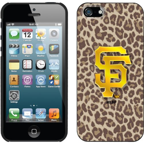 Special Sale San Francisco Giants - Leopard Print design on a Black iPhone 5s / 5 Thinshield Snap-On Case by Coveroo