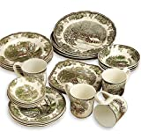 Johnson Brothers Friendly Village 28-Piece Set with Square Accent Plates, Service for 4