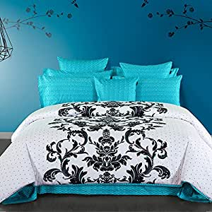Amazon.com: Cliab Turquoise Bedding Polka Dots Queen Size