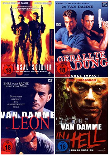 Jean-Claude van Damme Action Fan Paket ( 4 Actionfilme auf 4 DVDs )