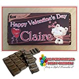 Personalised 114g Galaxy Milk Chocolate Bar ~ Valentines Day Present Gift Idea N56