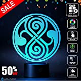 Doctor Who Seal of Rassilon Lighting Decor Gadget Lamp + Sticker Decor for Perfect Set, Awesome Gift (MT024) By Holinox