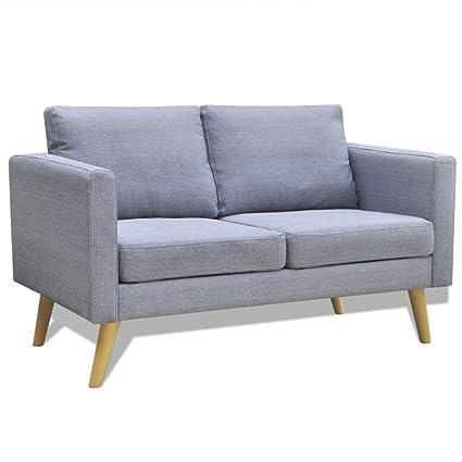 Canapé 2 places comfort gris clair