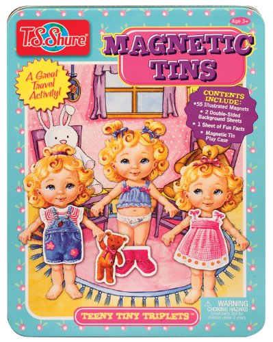 T.S. Shure Teeny Tiny Triplets Magnetic Tin