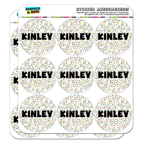 kinley-name-scrapbooking-crafting-stickers-multicolored-speckles-18-2-stickers