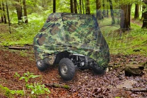 HEAVY DUTY WATERPROOF SUPERIOR UTV SIDE X SIDE COVER COVERS FITS UP TO 120'L WITH ROLL CAGE CAMOUFLAGE COLOR ATV COVER RHINO, RAN?GER, MULE, GATOR, ?PROWLER, RAZOR, YAMAHA, ARCTIC CAT, PROWLER, RANCHER, FOREMAN, FOURTRAX, RECON