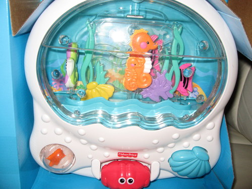 Ocean wonders musical aquarium crib attachment for Fisher price fish bowl