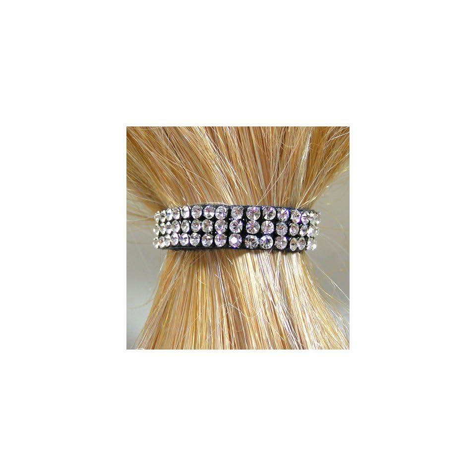 2 in 1 HAARBLUME HAARGUMMI Ansteckblume Haarblüte Zopfgummi Weiß Ø 10 cm aa