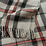 Thomson Grey Tartan Wool Blanket Travel Rug