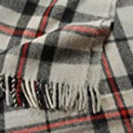 Thomson Grey Tartan Wool Blanket Trav...