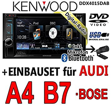 Audi a4 b7 kenwood dDX4015DAB 2DIN multimédia cD/uSB avec kit de montage