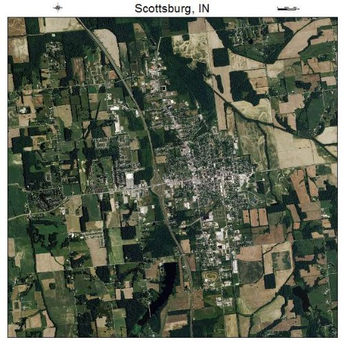 Aerial Photography Map of Scottsburg, Indiana