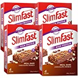 SlimFast Meal Bar Chocolate Crunch (4x Box of 4, Total 16 Bars)