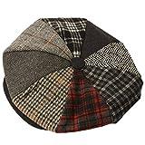 Mens Winter Retro 70s Oversized Big 8 Panel Newsboy Paperboy Cabbie Cap Hat XL